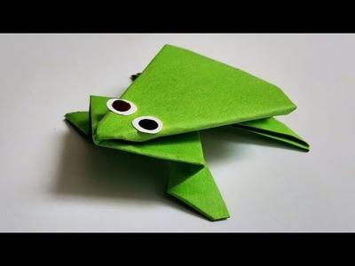 DIY- #3 HOW TO MAKE PAPER FROG.KAGAZ KA MEINDAK
