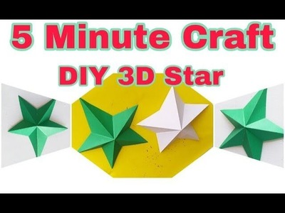 DIY 3D Star Using paper very easy|| How to make 3D star using paper