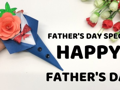 DIY card for Father's day | Father's day card idea by Quick Art Anjali