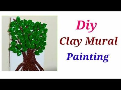DIY clay mural art | clay art | wall decor |