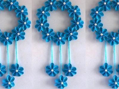 DIY Easy Paper Flower Wall Hanging !!! DIY ROOM DECOR 2019    Home Decorative Idea