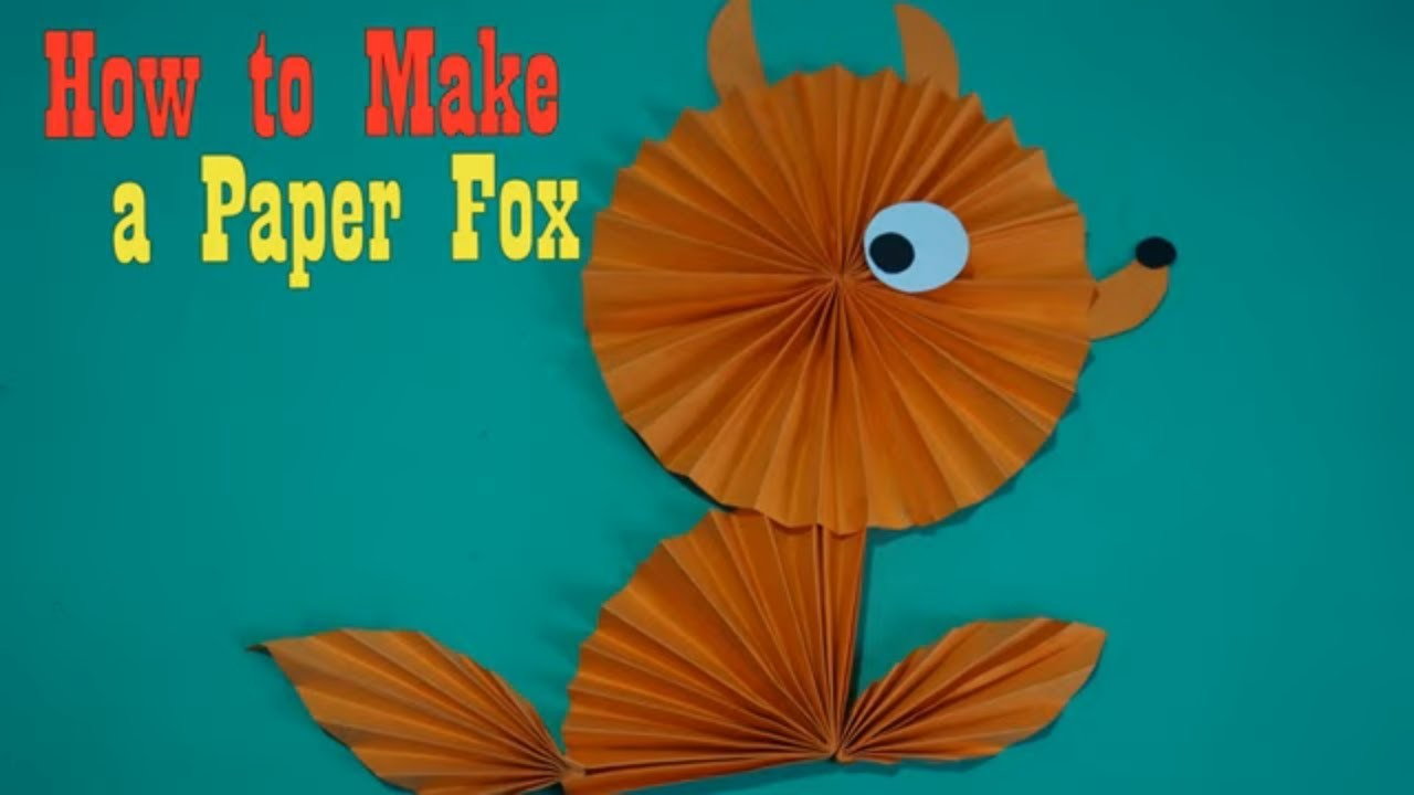 Diy easy paper Paper Fox craft ideas || Paper Fox Crafts For Kids