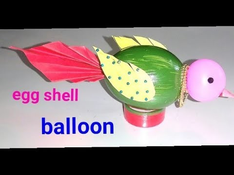 DIY.Egg shell art. beautiful bird making.Best out of waste.simple idea.kids art.