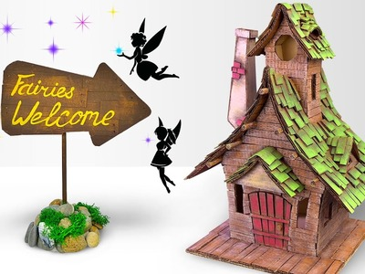 DIY Fairy House Using Cardboard