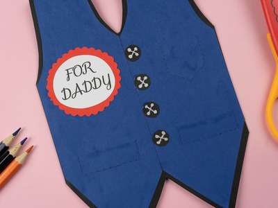 DIY Father Day Card.Father's Day easy Card Ideas.father's Day card tutorial