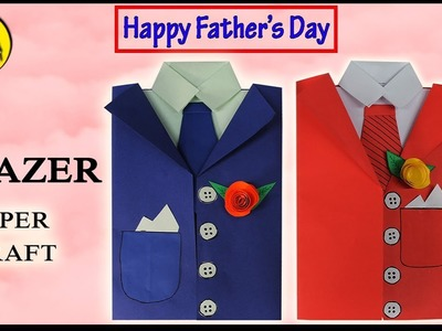 DIY Fathers Day Greeting Card - Suit Paper Crafts - Fathers Day Card