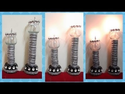 DIY HOME DECOR Candle Holder Using Carrom Coins| Best Out Of Waste| Wow DIY Crafts Inspirations????
