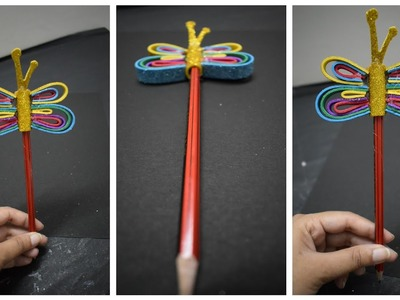 DIY How to make  Butterfly Pen Holder #kidsCraft #summervacation #PenHolder #Homedecor #Ideas #craft