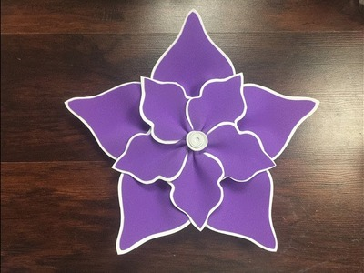 DIY: How to make this Beautiful Foam Flower. Como hacer una hermosa flor en foami