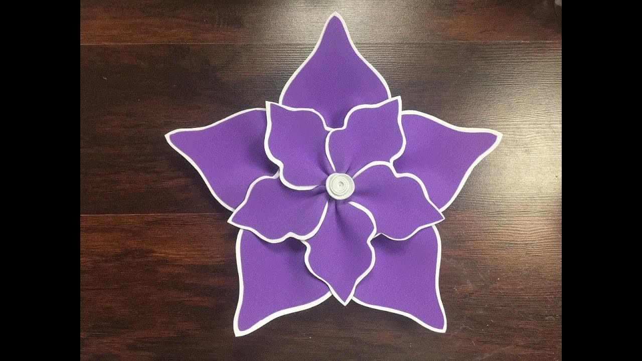 DIY: How to make this Beautiful Foam Flower. Como hacer una hermosa flor en foami