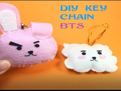 DIY How to Miniature- key chain BT21- JN Channel