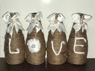 DIY idea with bottles .Easy DIY home decor (best out of waste)