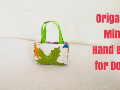 DIY Mini Hand Bag for Barbie.Origami Mini Purse for Doll