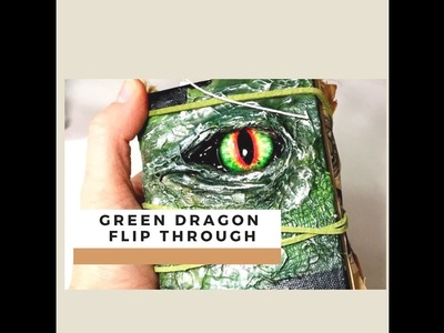 DIY Mini Junk Journal Green Dragon.Game of Thrones Flip Through