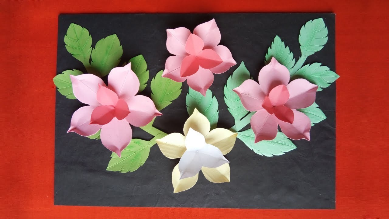 Diy Paper Flower Wall Hanging | Very Easy Wall Decoration Ideas | Make Paper Flowers & Wall hanging