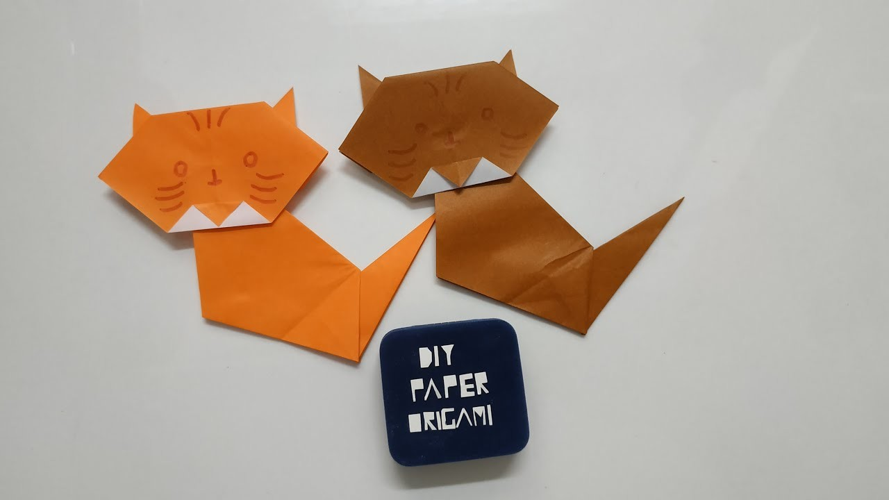DIY Paper Origami - How to make cat origami easy ????