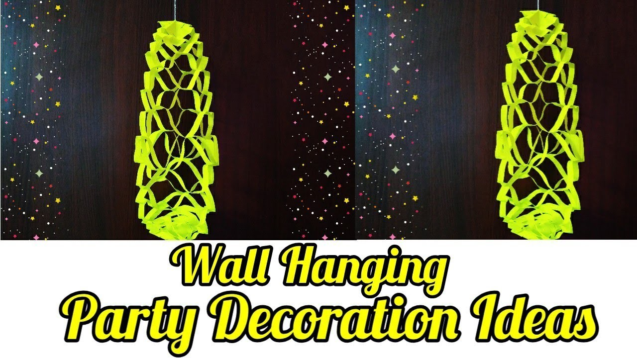 Diy Party Decoration Ideas | wall Decoration Ideas | Paper Wall Hanging | sweety trendzzz