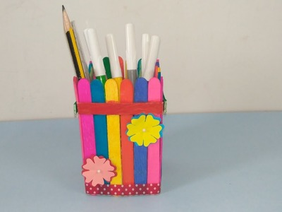 DIY Pen Holder ????️with colorful Popsicle sticks| DIY | Innovative Insider