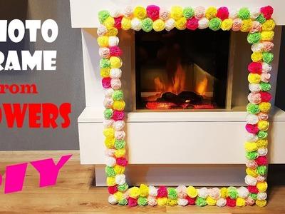 DIY Photo Frame from Paper Flowers | Рамка для СЭЛФИ из цветов