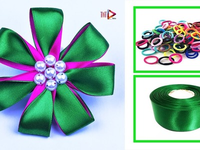 DIY Ribbon Band Hair Accessories Easy | Handmade Rubber Hair Band For Kids | V5