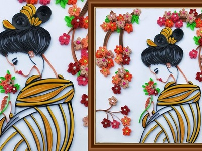 DIY Room Decor Ideas | Making Beautiful Girl Wall Art | Home Decoration | Paper Quilling Art