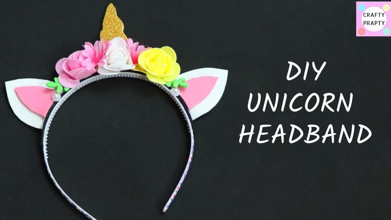 DIY Unicorn Headband   How to Make a Unicorn Headband    Manualidades