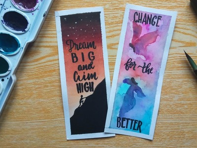 DIY Watercolor Bookmarks with Inspirational Quotes | Jesureth Cuaresma