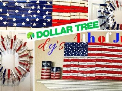 Dollar Tree 4th of July DIY's ????????❤️| ClothesPins U.S.A Flag | Clothespins Wreath