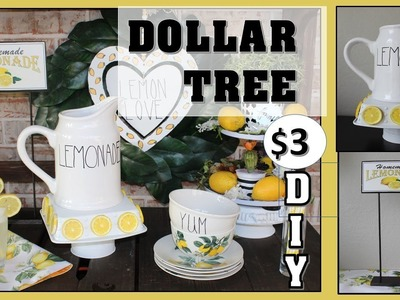 ????DOLLAR TREE FARMHOUSE LEMON  DECOR ???? | FREE PRINTABLES