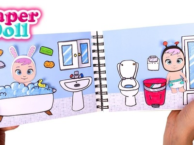 DOLLHOUSE Book for PAPER DOLL BABIES ???????? Papercraft for kids