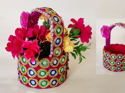 || EASY DIY Basket || using by waste material ||