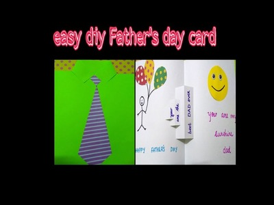 Easy DIY Father's day card.pop up card
