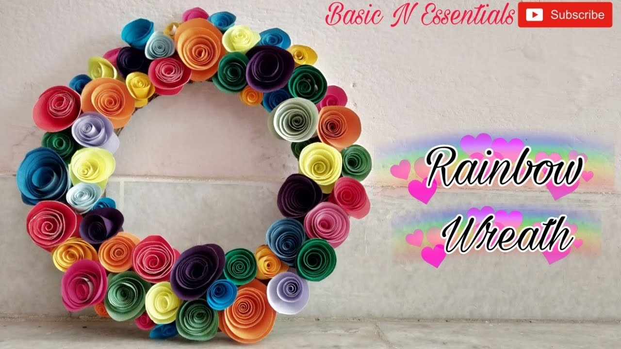 ????Easy DIY Room Decor Rainbow Wreath or Photoframe????