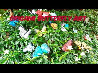 Easy Origami Paper Butterfly | How to make butterfly art |  Wall deco diy | My little space
