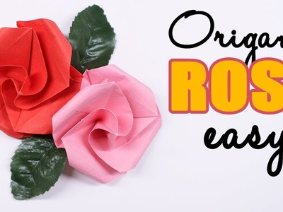 Easy Origami Rose - DIY papercraft Flower