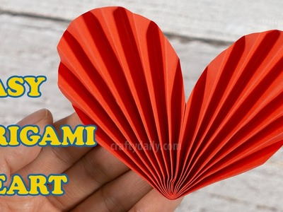 Easy Paper Origami Heart   How to make a Paper Heart 3D   Paper Heart DIY