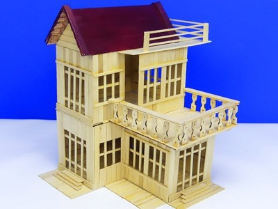 Easy & Simple Popsicle Stick Mansion house DIY | Model 19