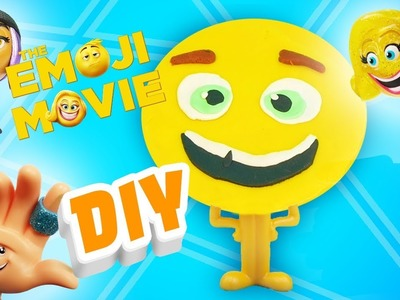 Emoji Movie Gene DIY Play-Doh Portrait! Learn Colors w. Jailbreak, Hi-5 & Smiler