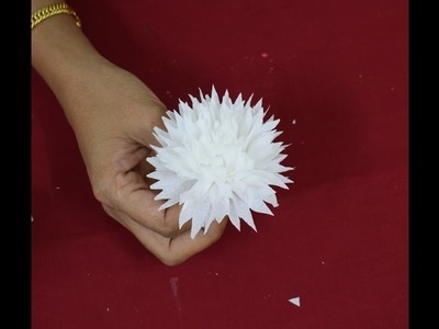 Flower making. tissue paper flower making lesson 3