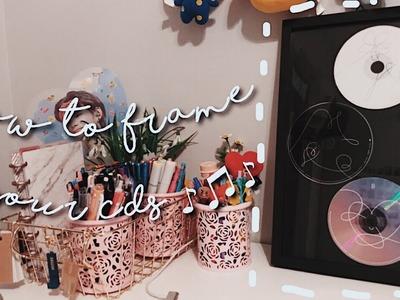 How i frame my CDs (DIY)