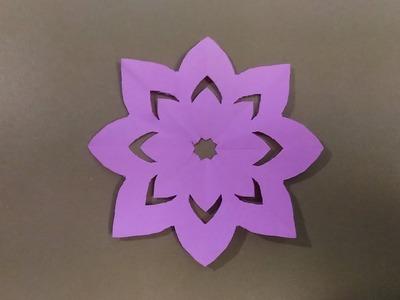 How to cut flower design in a giramic paper. !