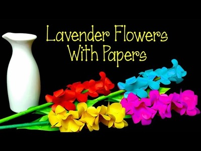 How to Make A Lavender Flowers | paper Flower | Paper Stick Flower