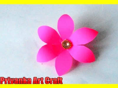 How to make a paper easy flower for beginners step by step tutorial paper flower for kids V-6