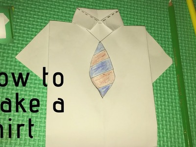 How to make a shirt (Father's day card 2019) by kids fun London