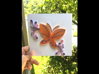 HOW TO MAKE AN EASY QUILLING BUTTERFLY CARD - TUTORIAL FOR BEGINNERS; STEP BY STEP