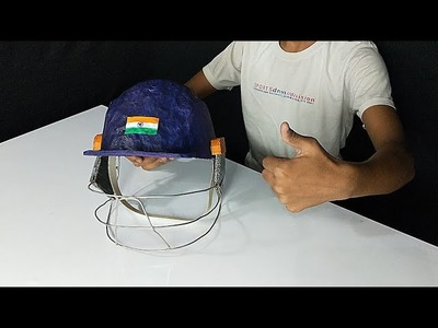 How to make cricket???? helmet at home from basic meterials