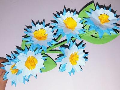 How to make Easy Paper Flower - Making Flower Step by Step - DIY Craft - Origami Flower - DIY Flower
