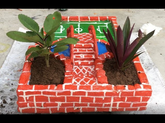 How To Make Ecological Garden Miniature - DIY - AMAZING IDEAS WITH CEMENT