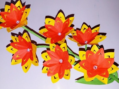 How to Make Flowers |Cutting Paper | Origami Flower |  Making Paper Flowers Step by Step