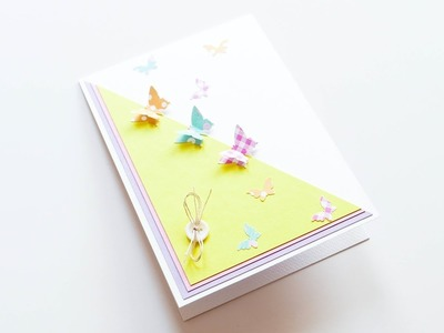 How to make : Greeting Card with Butterflies | Kartka z Motylami - Mishellka #357 DIY